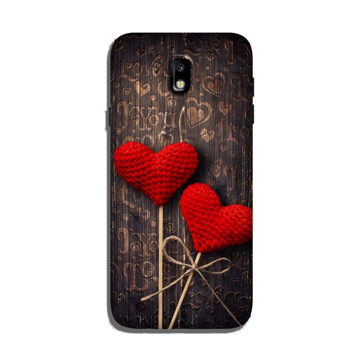 Red Hearts Case for Galaxy J3 Pro