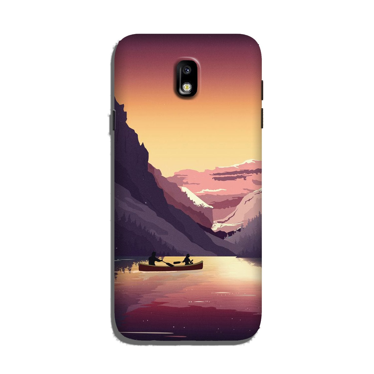 Mountains Boat Case for Galaxy J7 Pro (Design - 181)