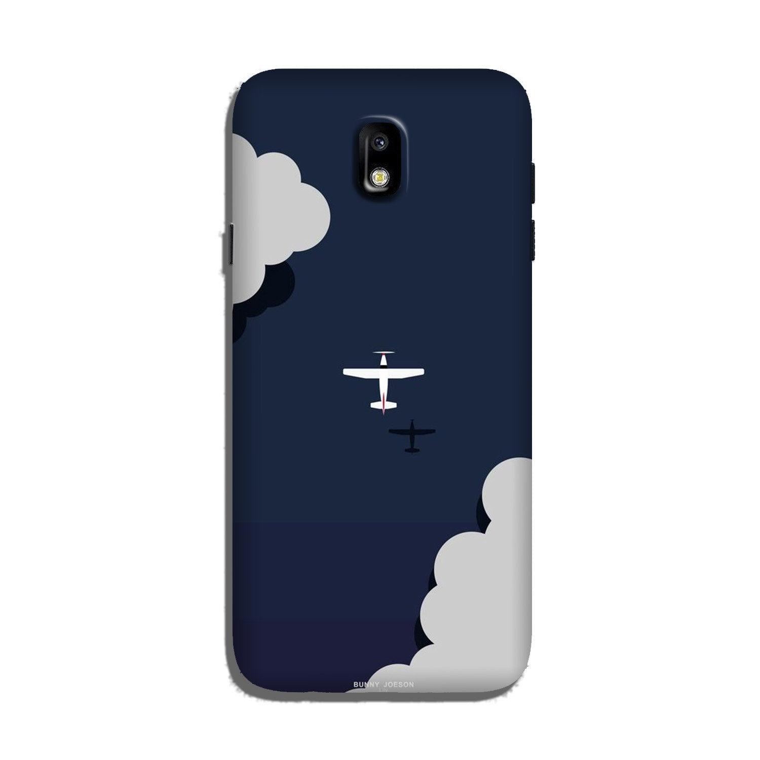 Clouds Plane Case for Galaxy J7 Pro (Design - 196)