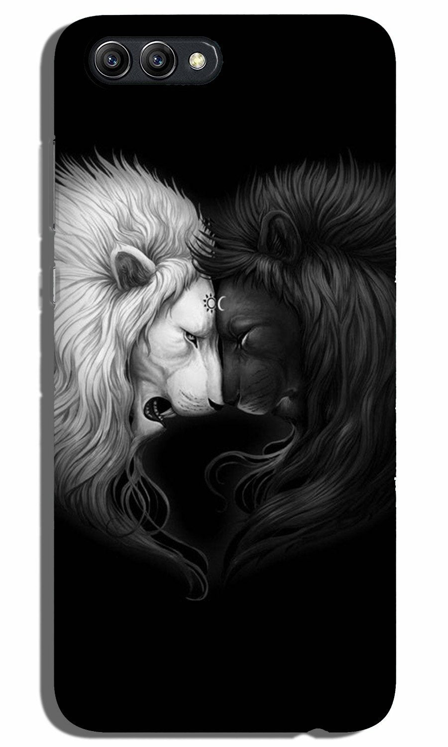 Dark White Lion Case for Oppo A3s  (Design - 140)