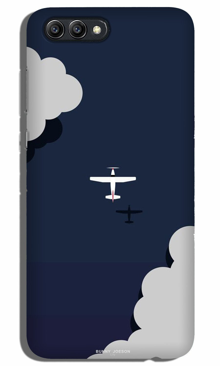 Clouds Plane Case for Oppo A3s (Design - 196)