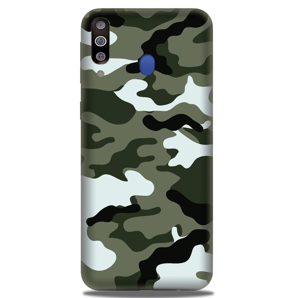 Army Camouflage Case for Samsung Galaxy M30  (Design - 108)