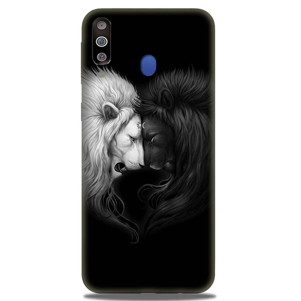 Dark White Lion Case for Samsung Galaxy M30  (Design - 140)