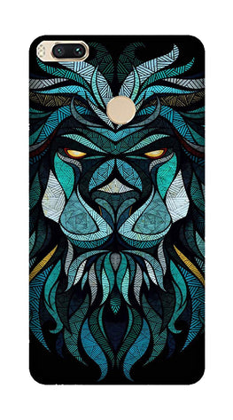 Lion Mobile Back Case for Mi A1  (Design - 314)