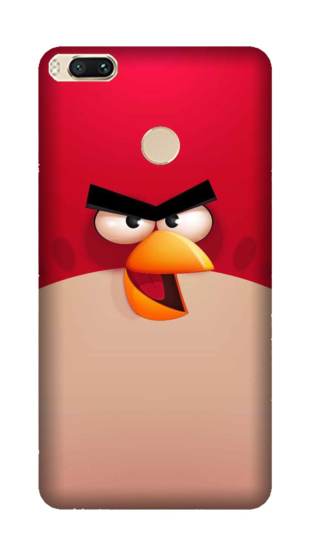 Angry Bird Red Mobile Back Case for Mi A1  (Design - 325)