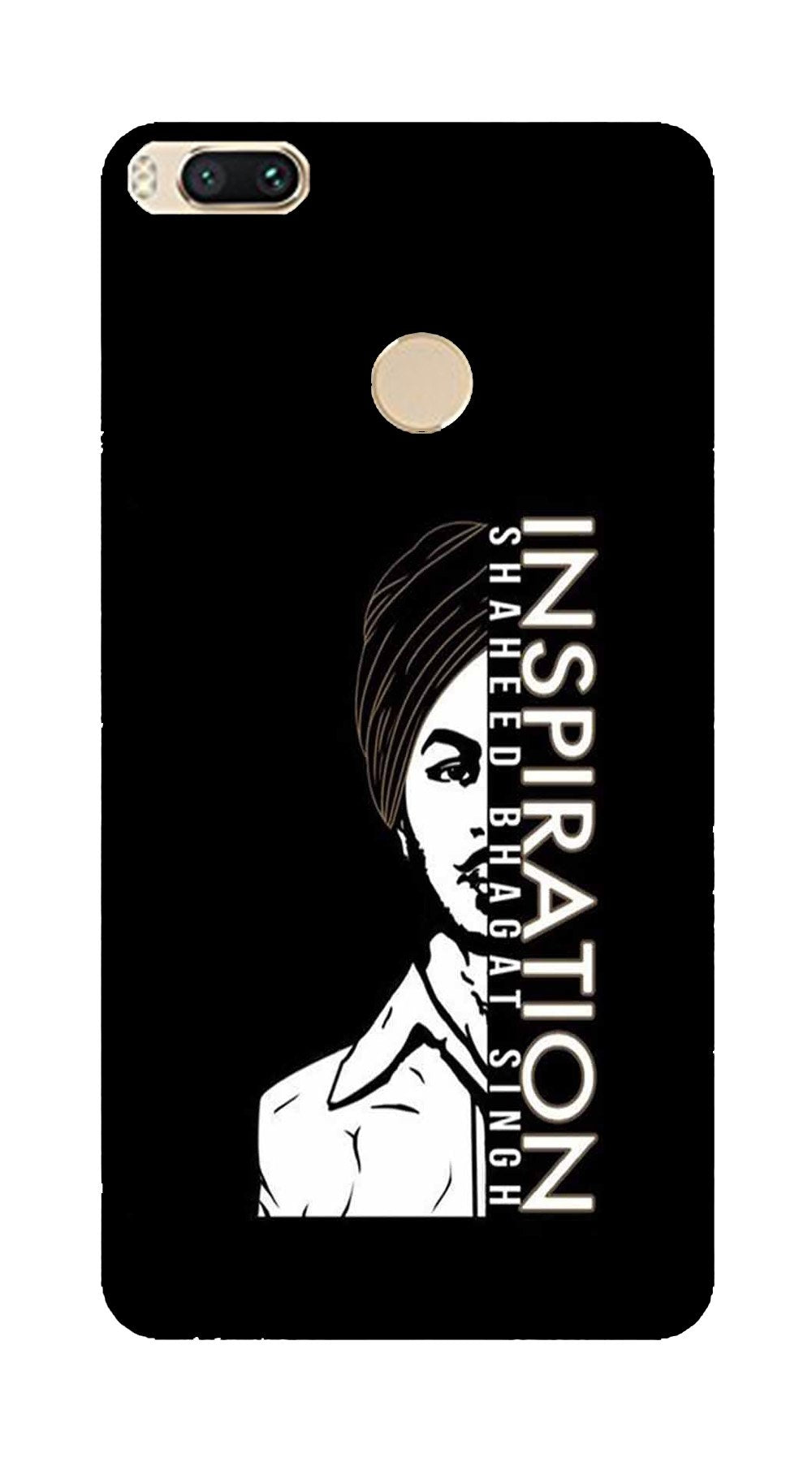 Bhagat Singh Mobile Back Case for Mi A1  (Design - 329)