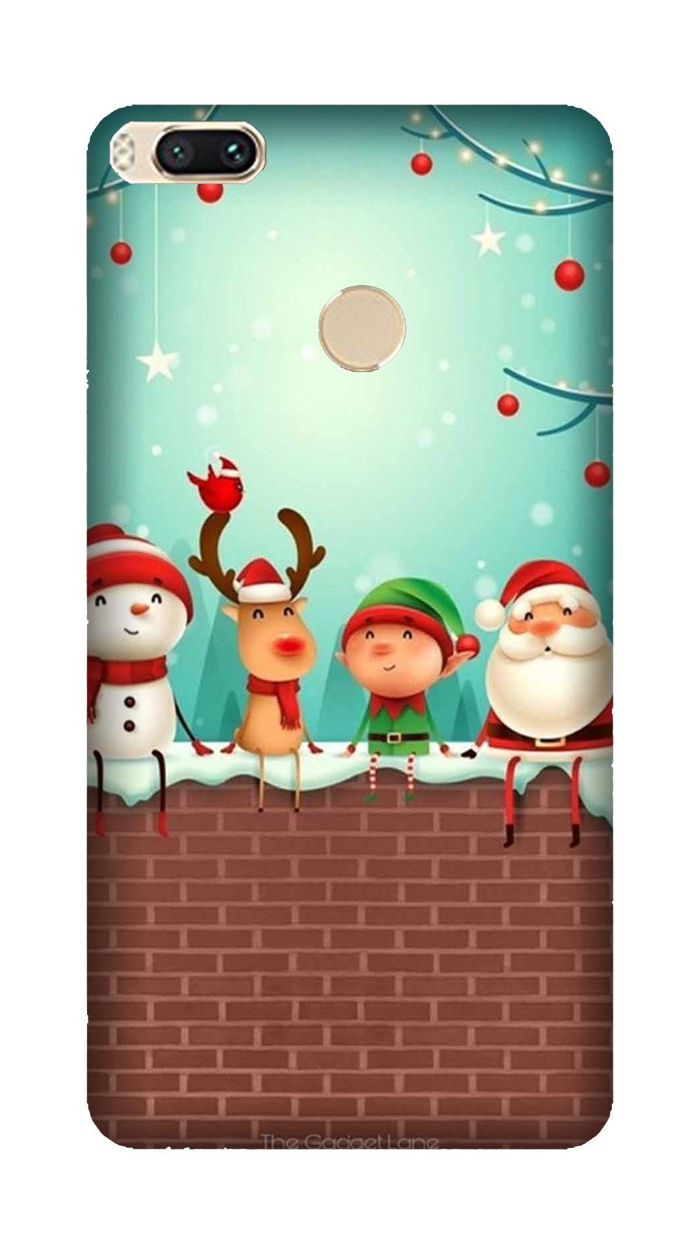 Santa Claus Mobile Back Case for Mi A1  (Design - 334)