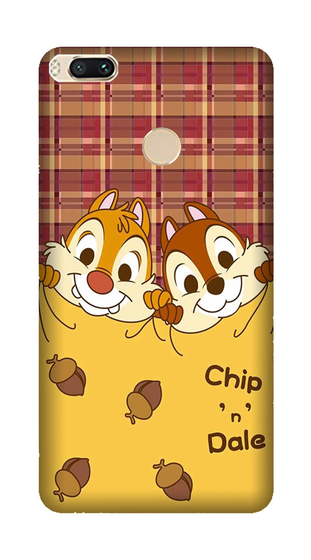 Chip n Dale Mobile Back Case for Mi A1  (Design - 342)