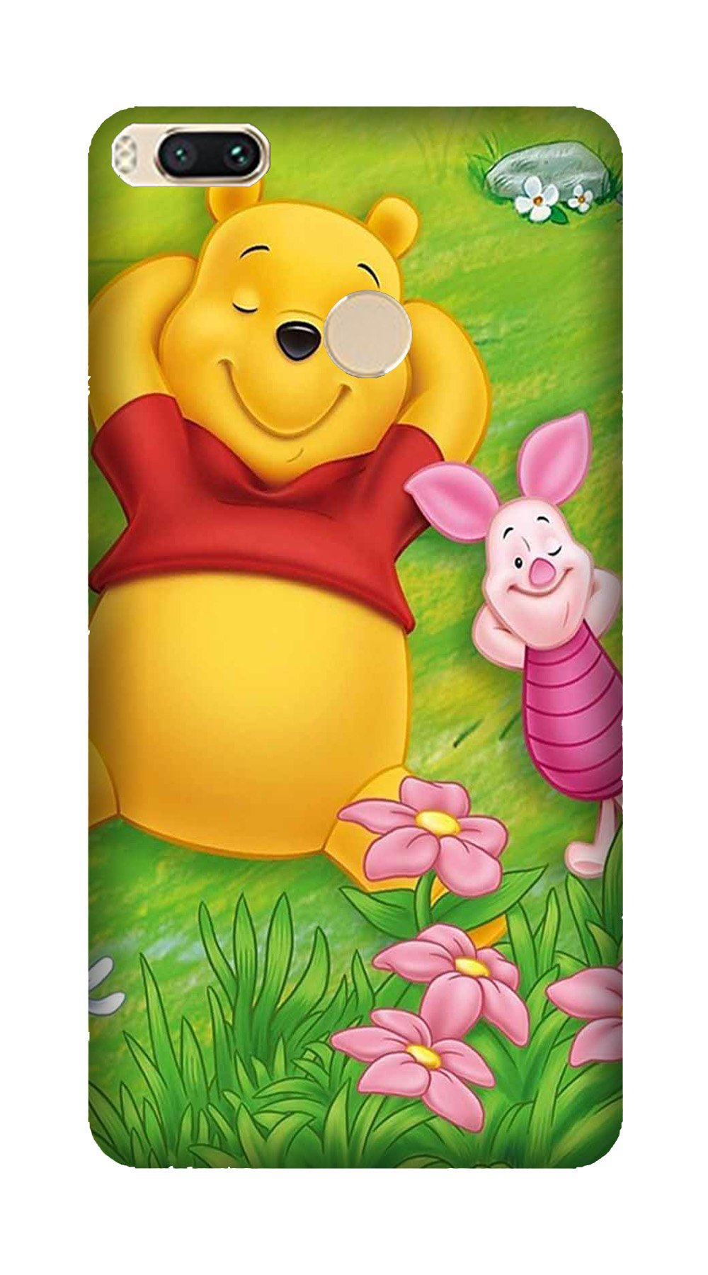 Winnie The Pooh Mobile Back Case for Mi A1  (Design - 348)