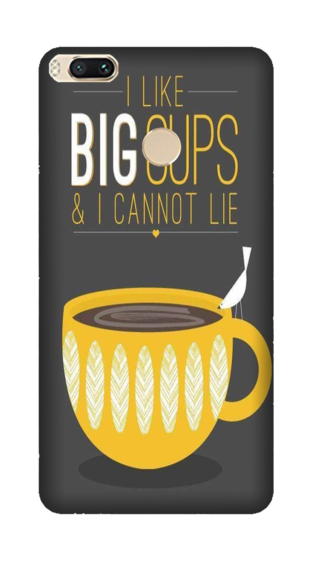 Big Cups Coffee Mobile Back Case for Mi A1  (Design - 352)