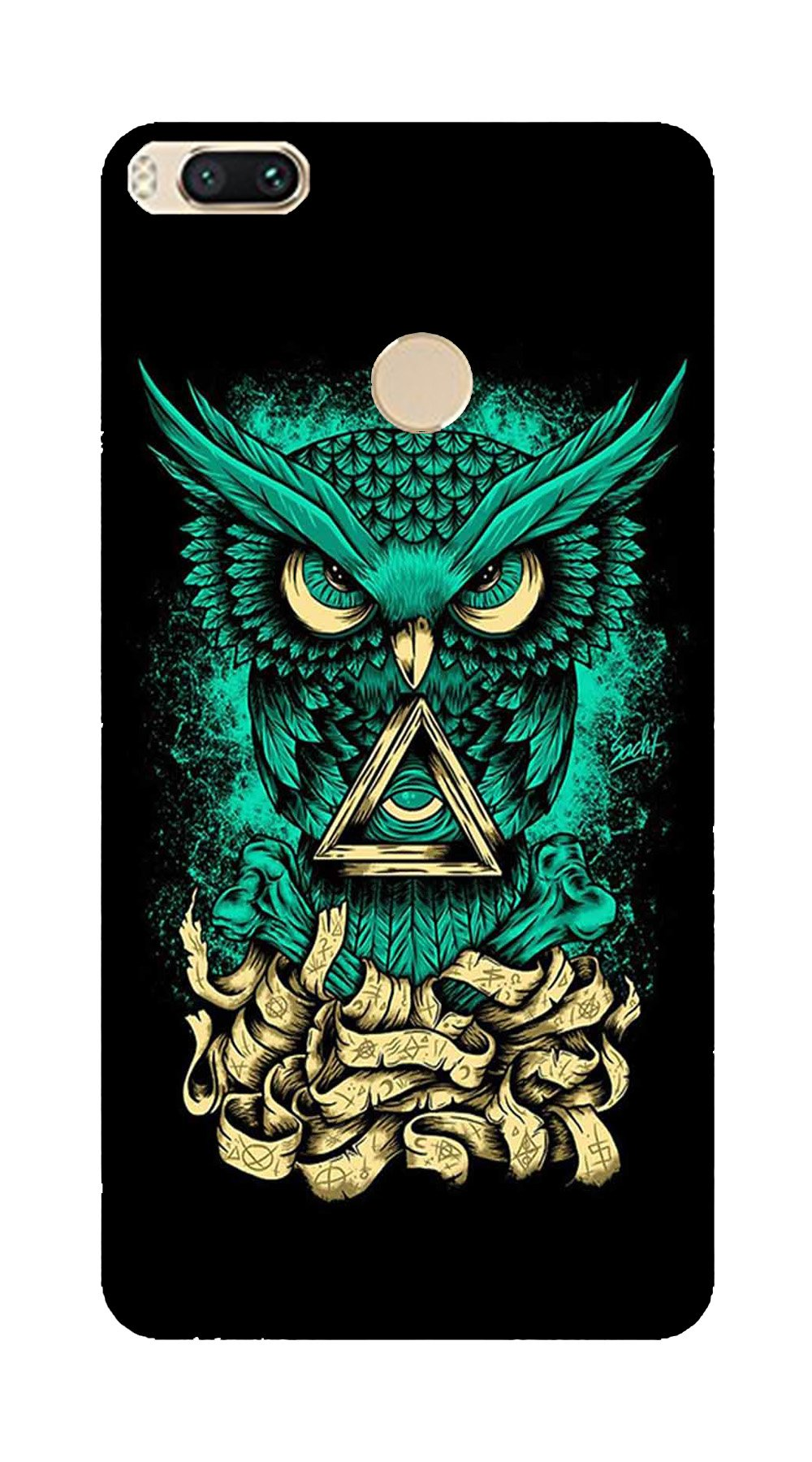 Owl Mobile Back Case for Mi A1  (Design - 358)