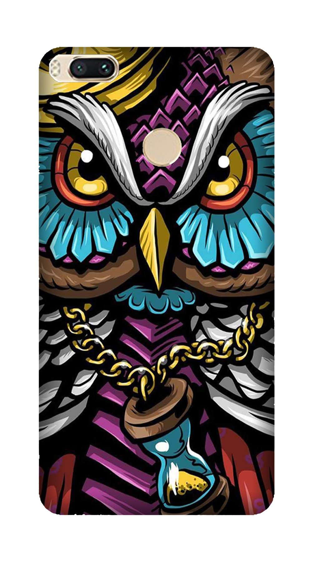 Owl Mobile Back Case for Mi A1  (Design - 359)