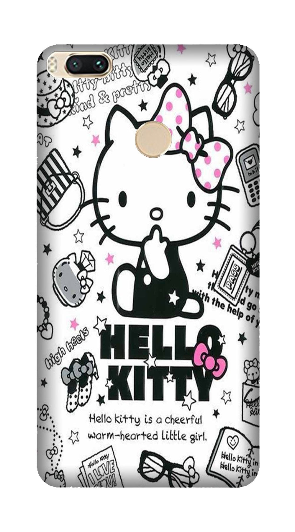 Hello Kitty Mobile Back Case for Mi A1  (Design - 361)
