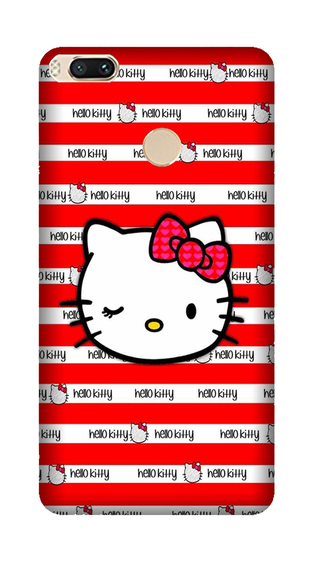Hello Kitty Mobile Back Case for Mi A1  (Design - 364)