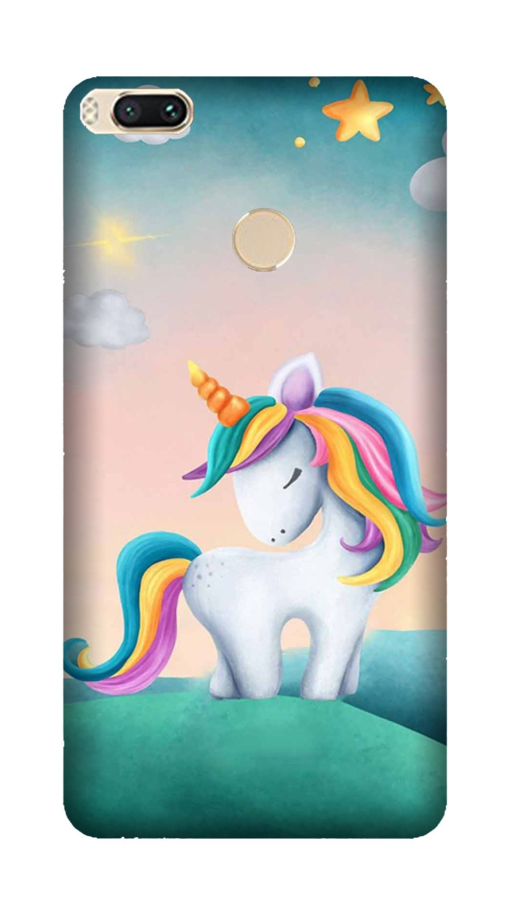 Unicorn Mobile Back Case for Mi A1  (Design - 366)