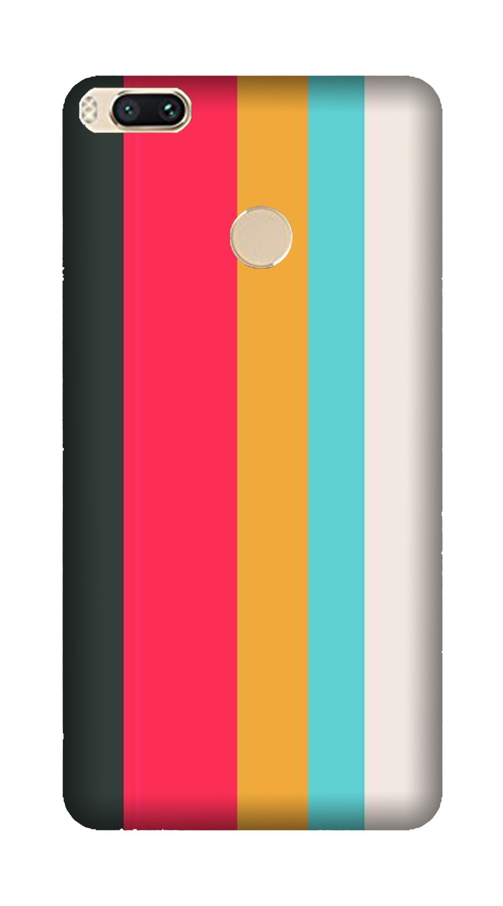 Color Pattern Mobile Back Case for Mi A1  (Design - 369)