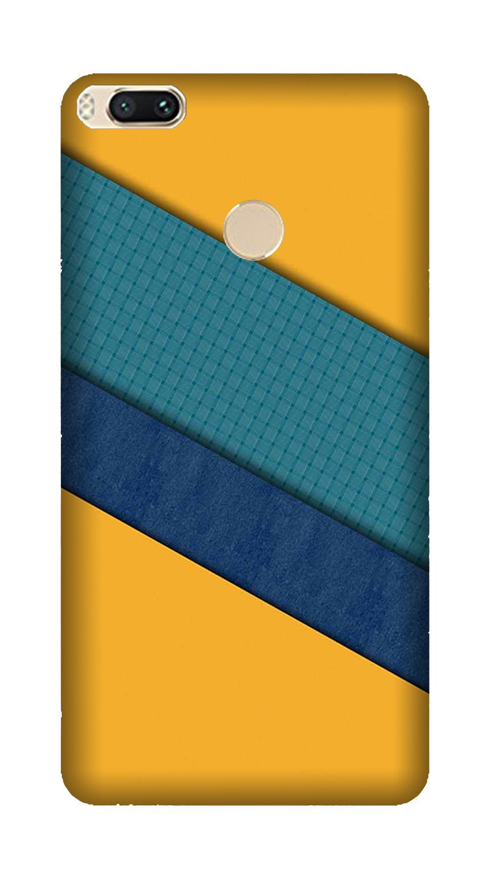 Diagonal Pattern Mobile Back Case for Mi A1  (Design - 370)