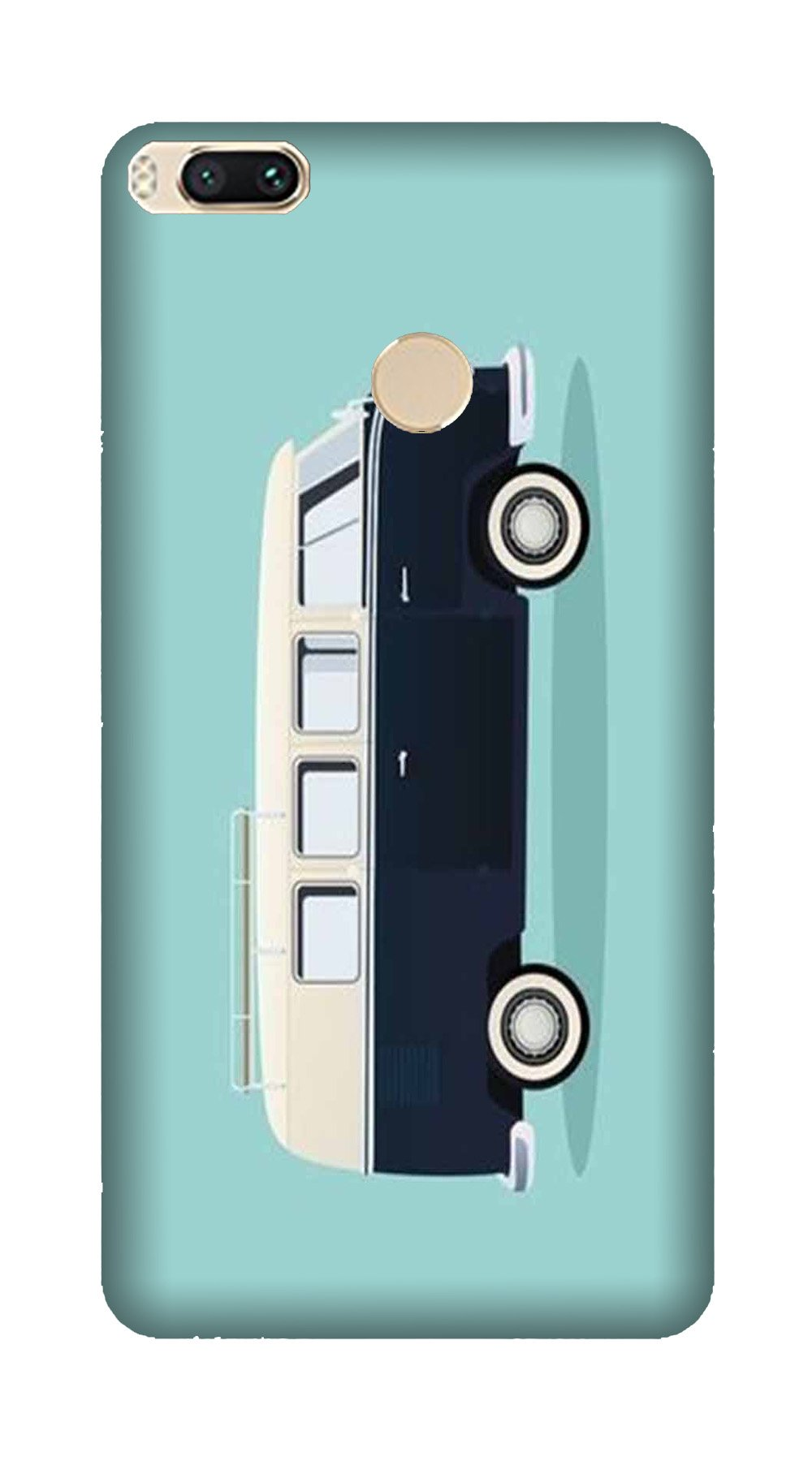 Travel Bus Mobile Back Case for Mi A1  (Design - 379)