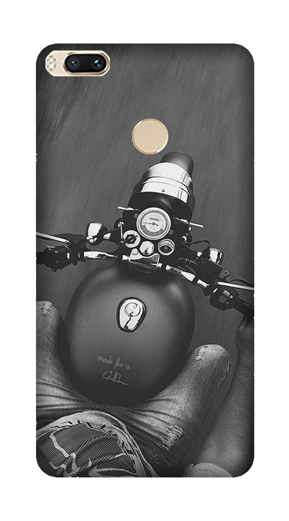 Royal Enfield Mobile Back Case for Mi A1  (Design - 382)
