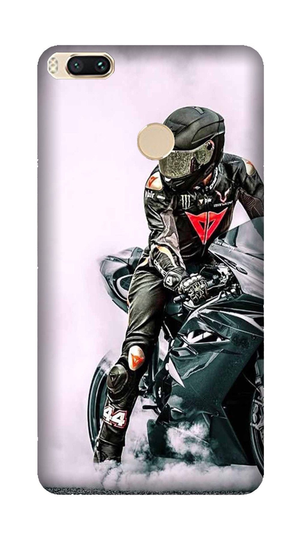 Biker Mobile Back Case for Mi A1  (Design - 383)