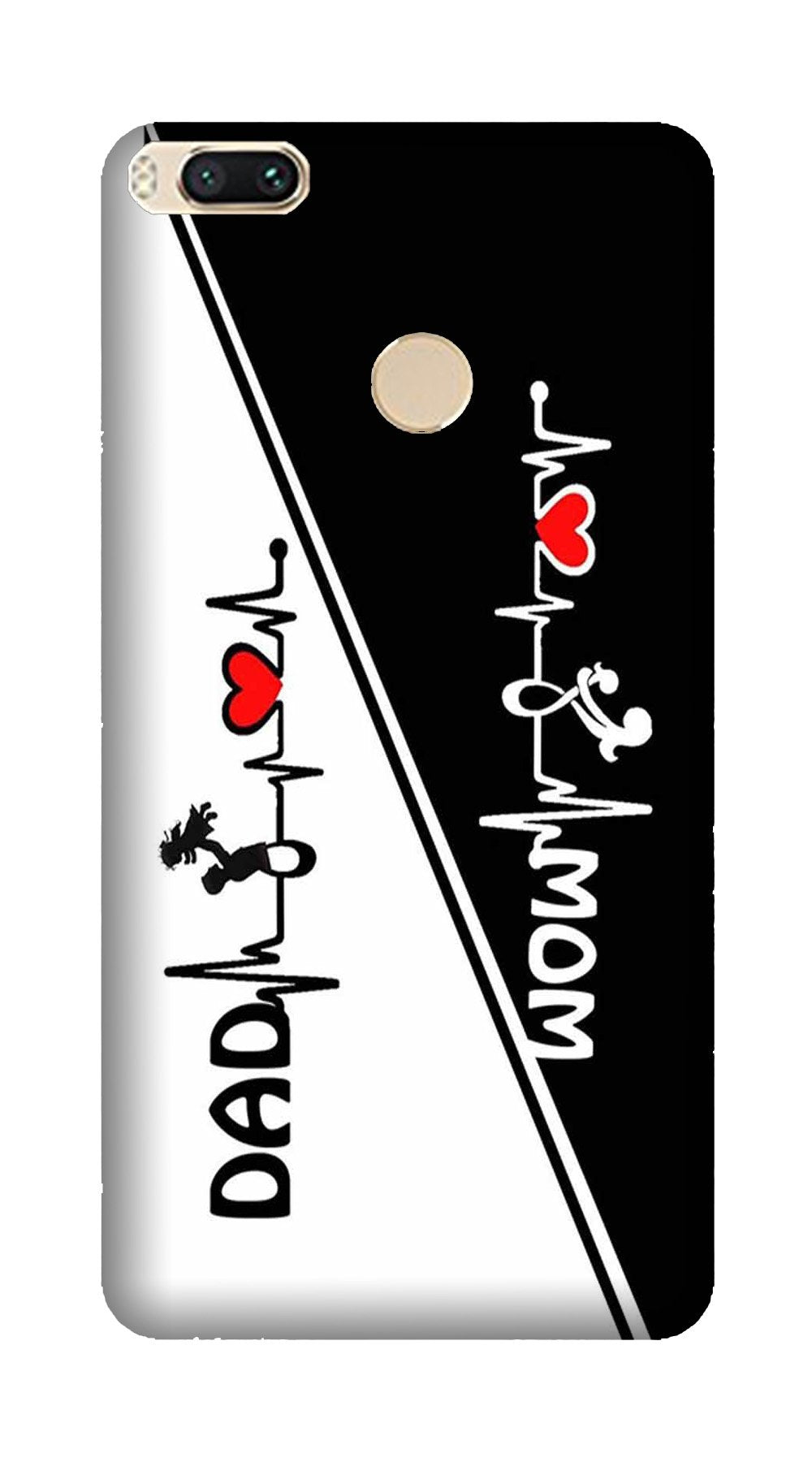 Love Mom Dad Mobile Back Case for Mi A1  (Design - 385)