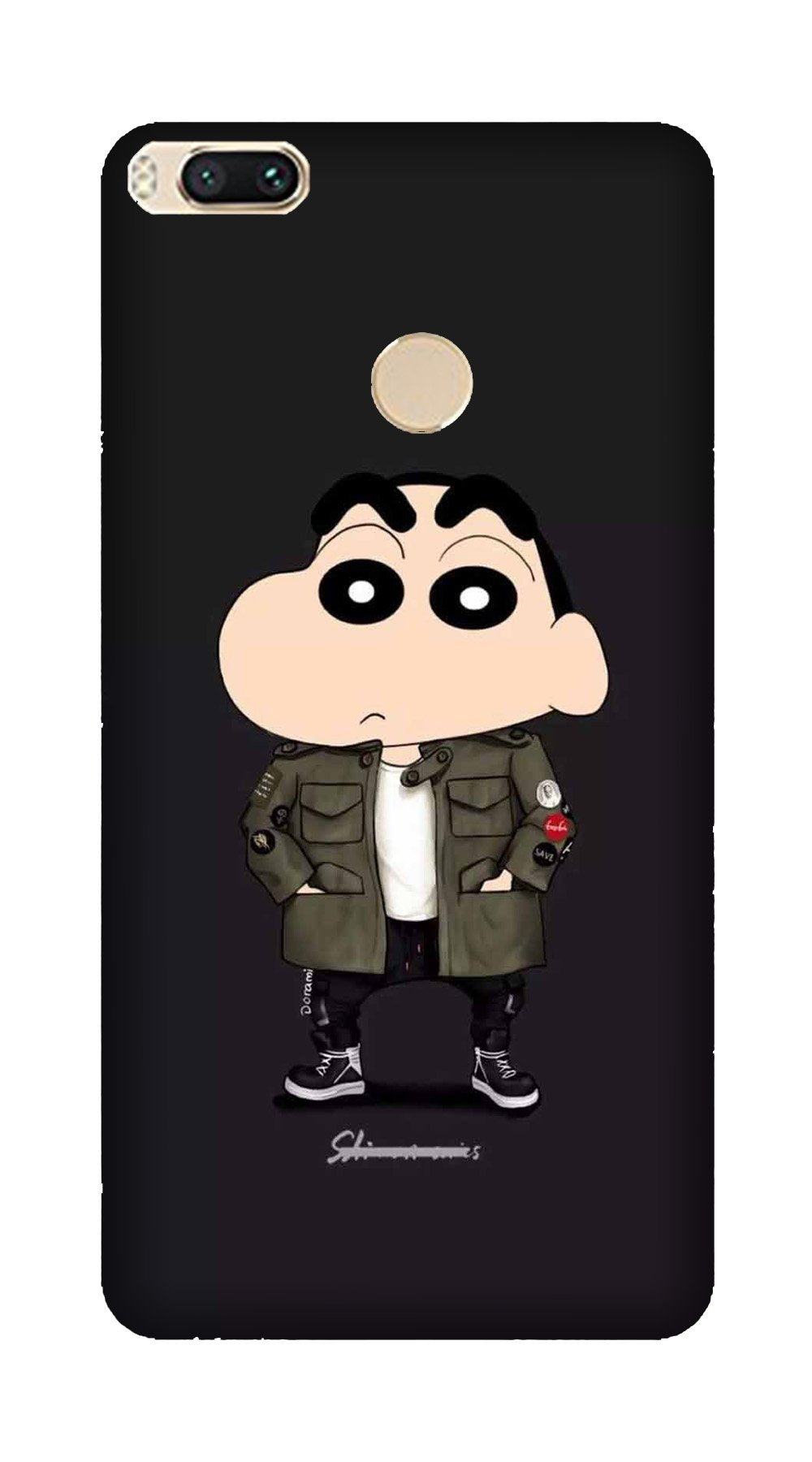 Shin Chan Mobile Back Case for Mi A1  (Design - 391)