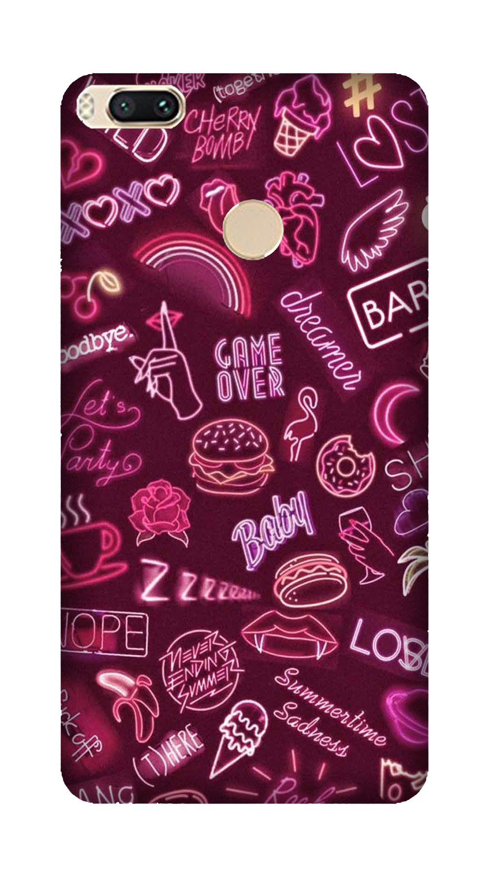 Party Theme Mobile Back Case for Mi A1  (Design - 392)