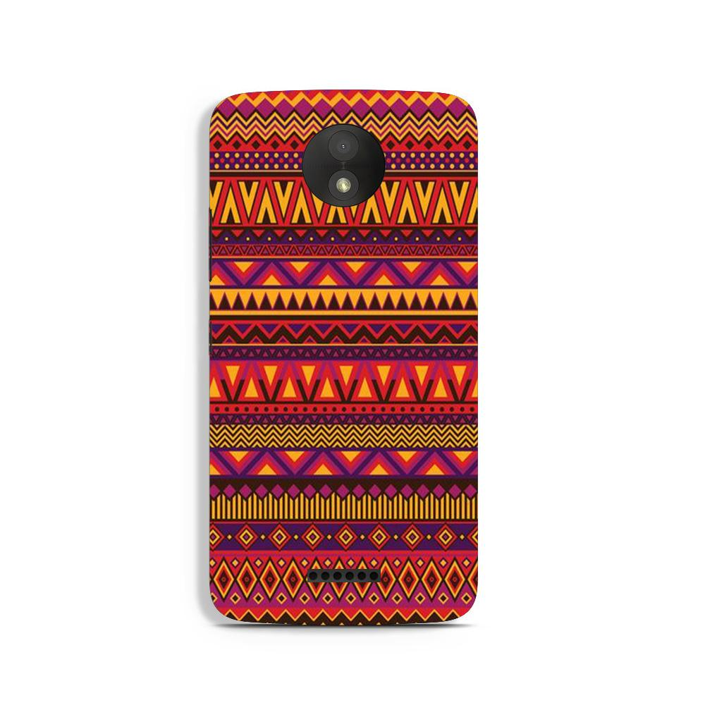 Zigzag line pattern2 Case for Moto C