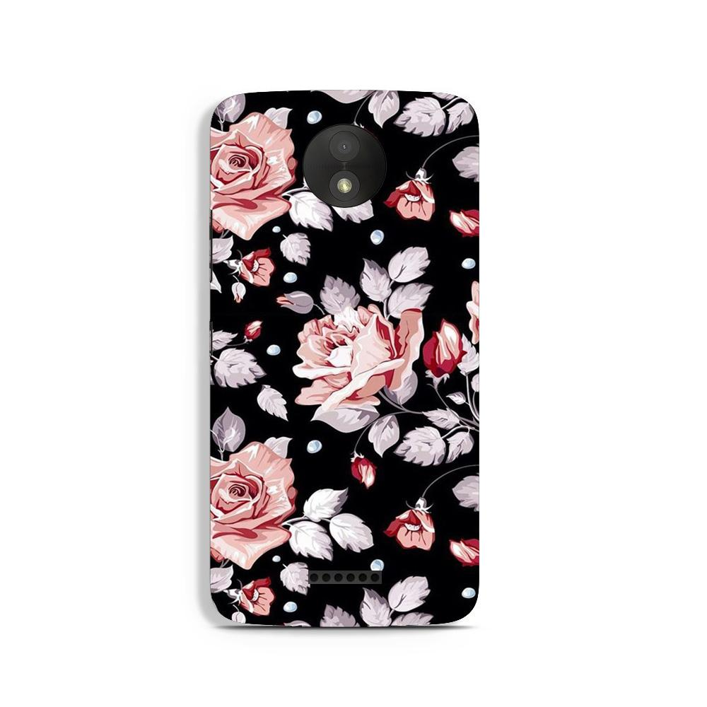 Pink rose Case for Moto C