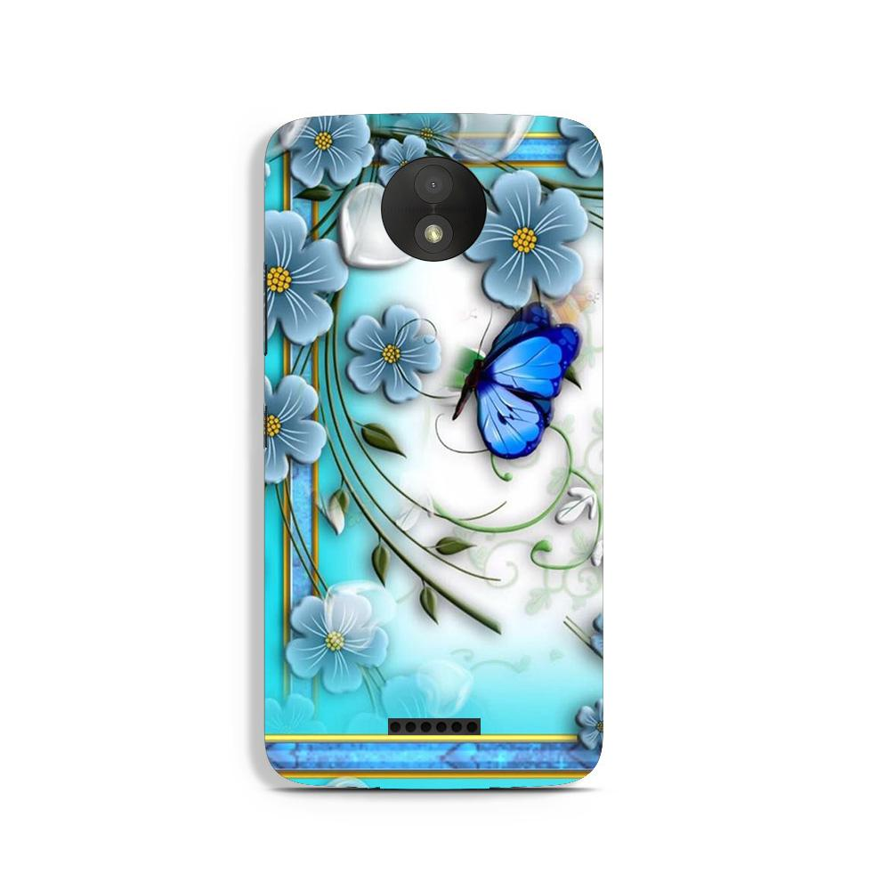 Blue Butterfly Case for Moto C