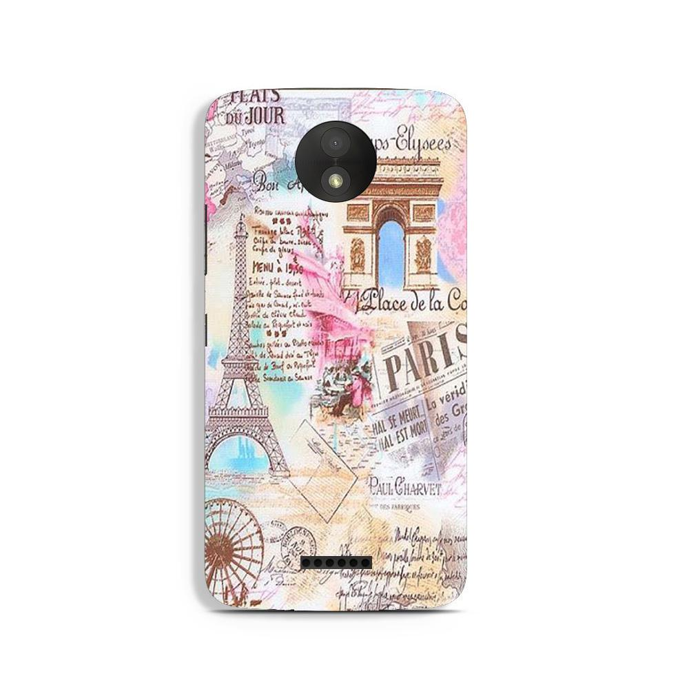 Paris Eiftel Tower Case for Moto C