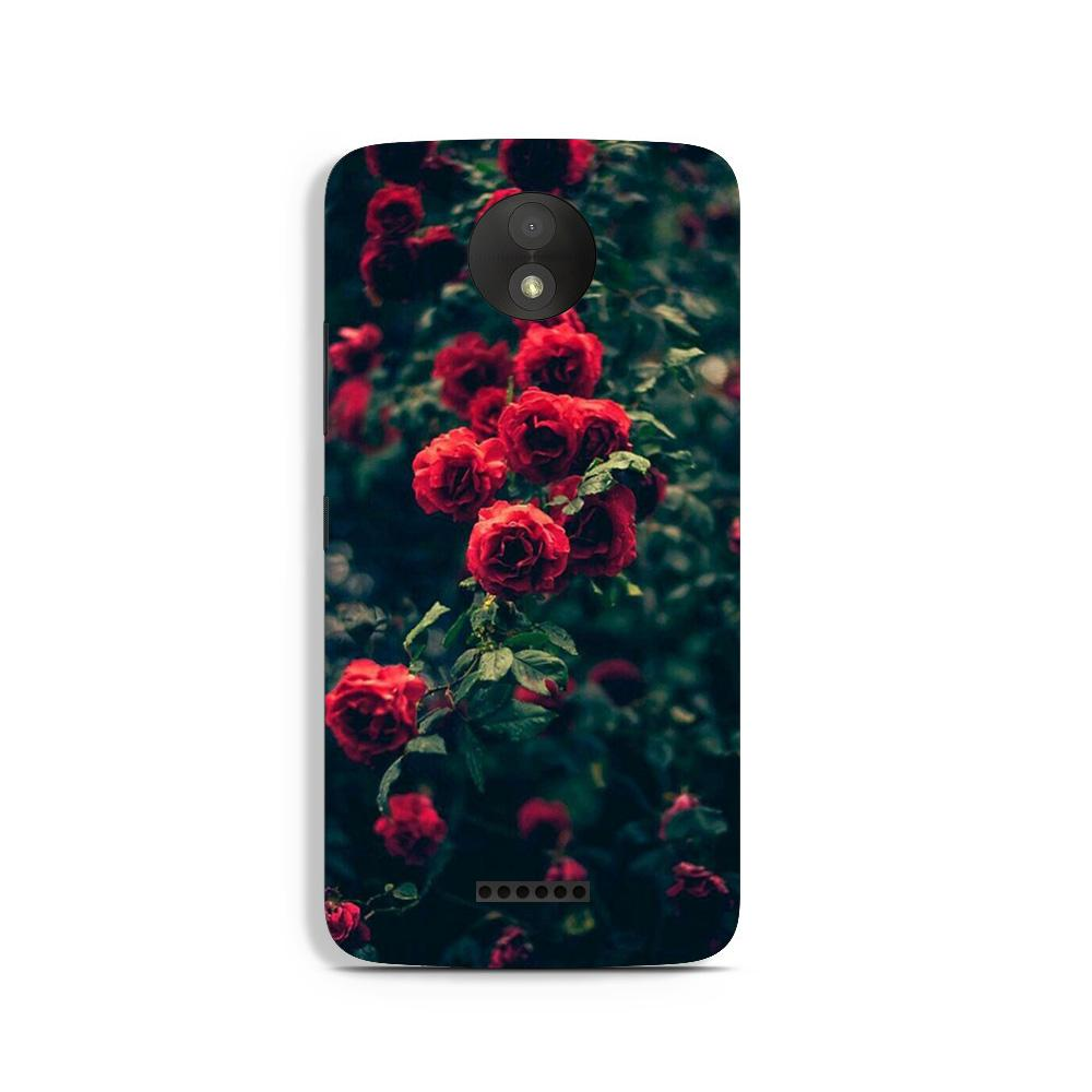 Red Rose Case for Moto C