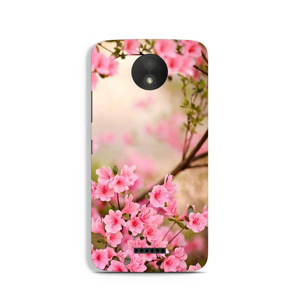 Pink flowers Case for Moto C