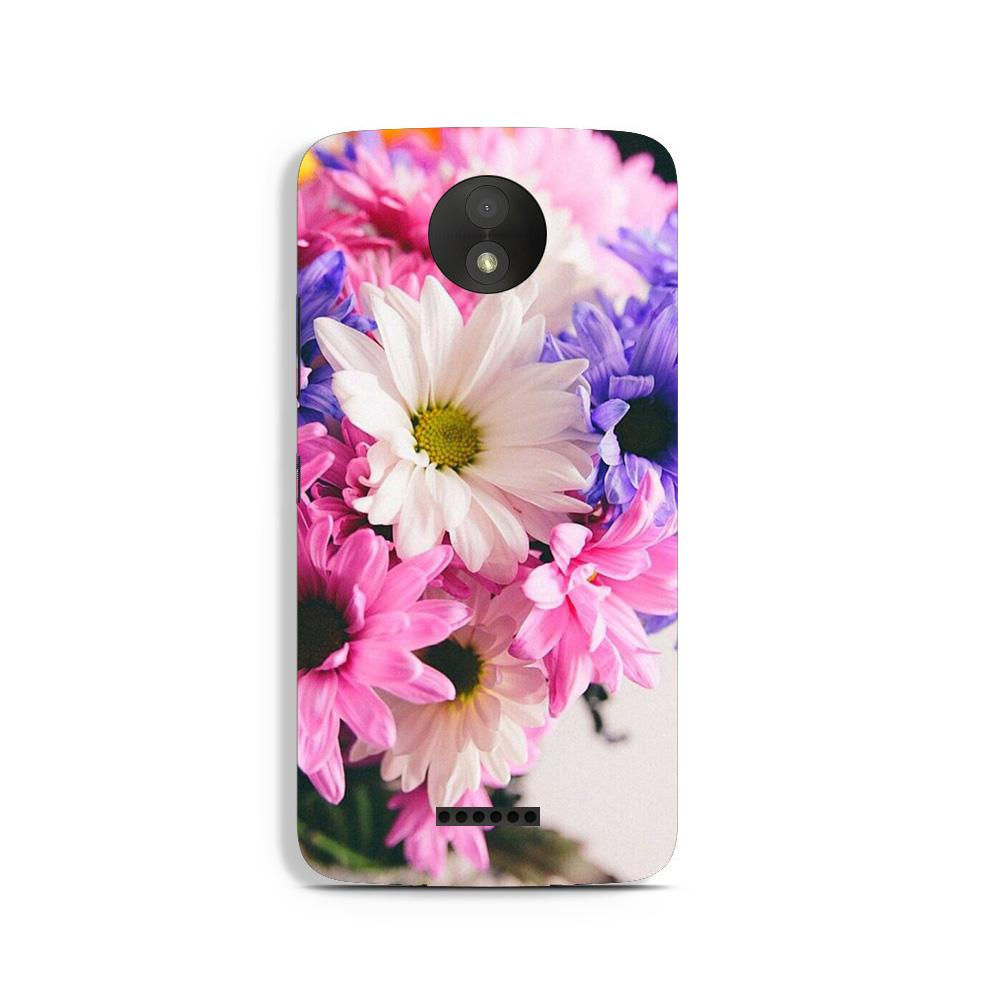 Coloful Daisy Case for Moto C