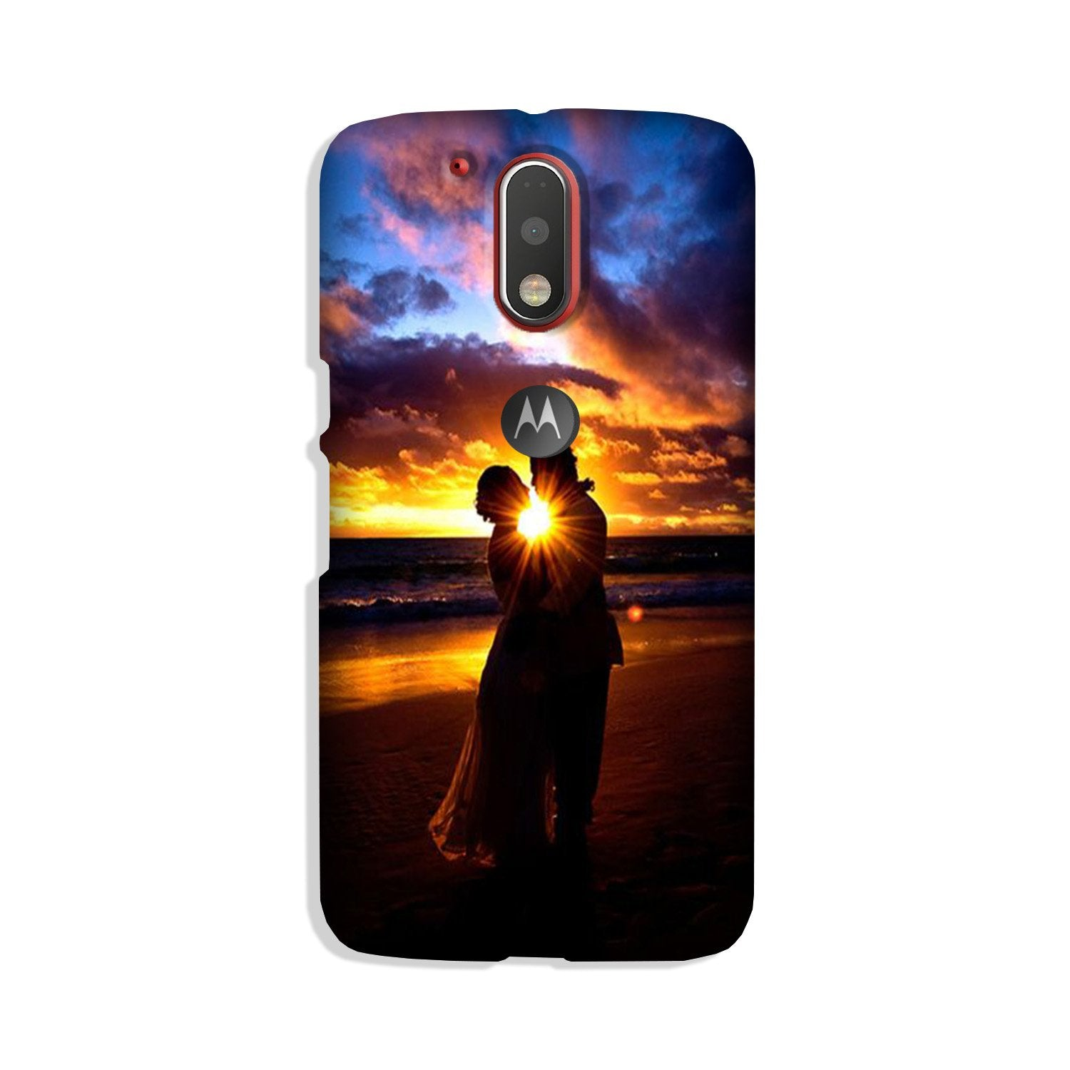 Couple Sea shore Case for Moto G4 Plus