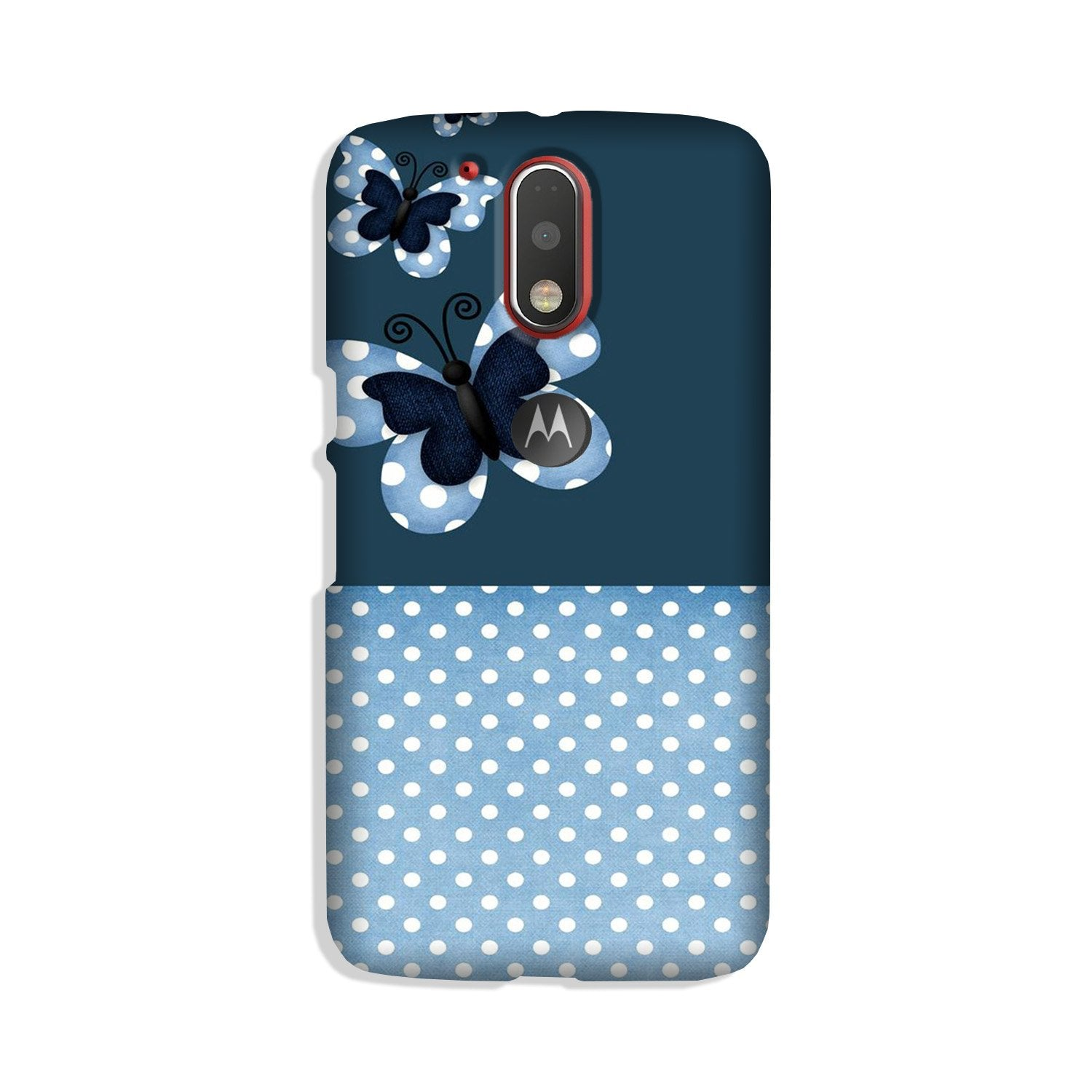 White dots Butterfly Case for Moto G4 Plus