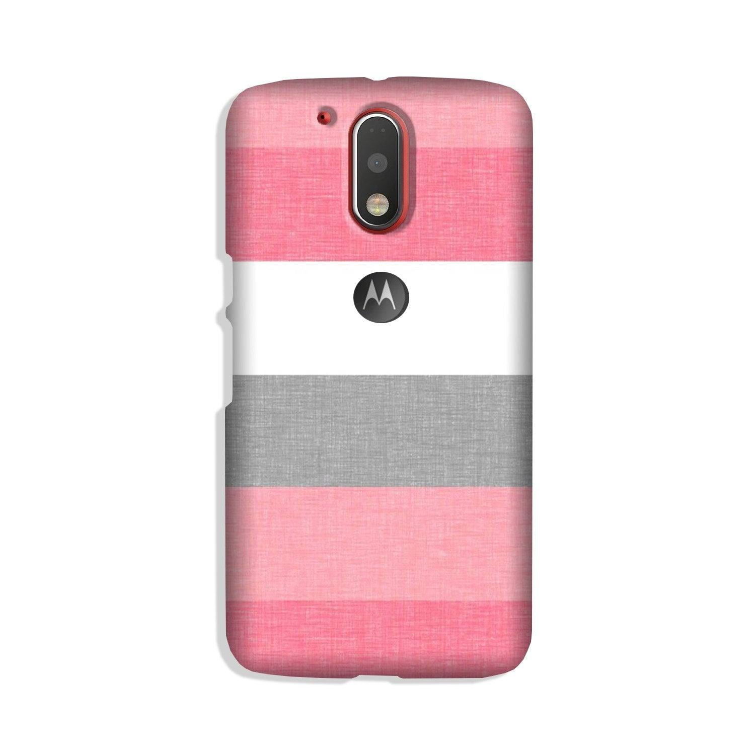 Pink white pattern Case for Moto G4 Plus