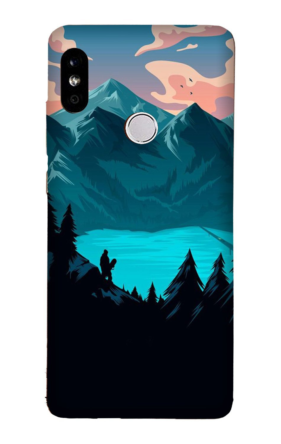 Mountains Case for Xiaomi Redmi Y3 (Design - 186)