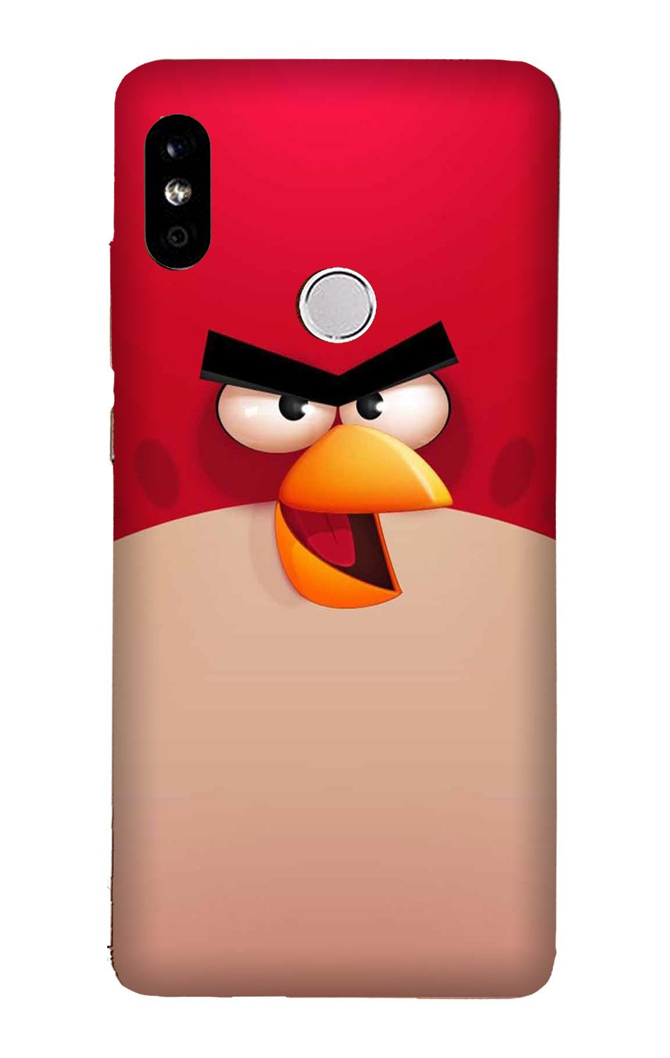 Angry Bird Red Mobile Back Case for Mi A2  (Design - 325)
