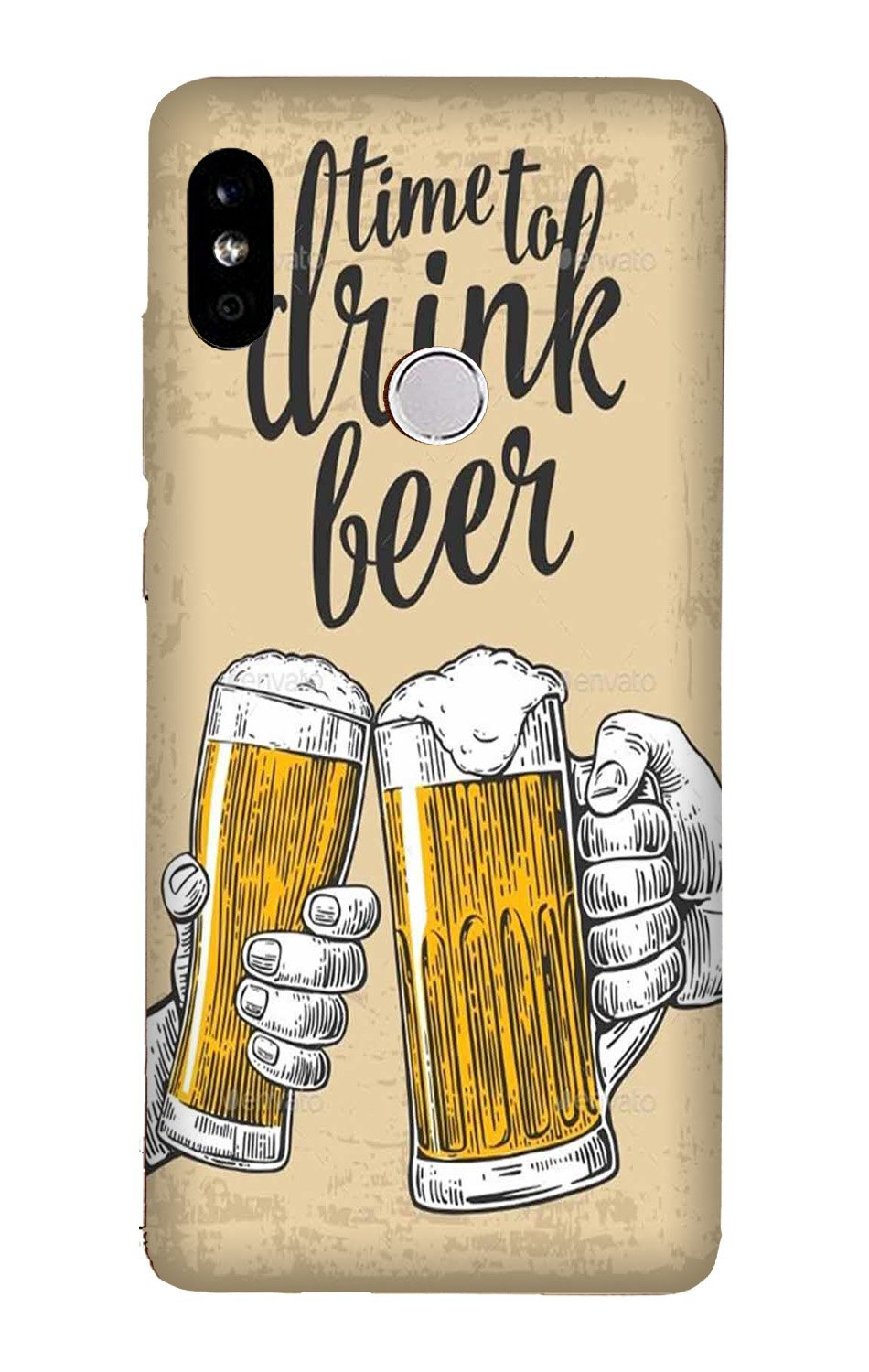 Drink Beer Mobile Back Case for Mi A2  (Design - 328)