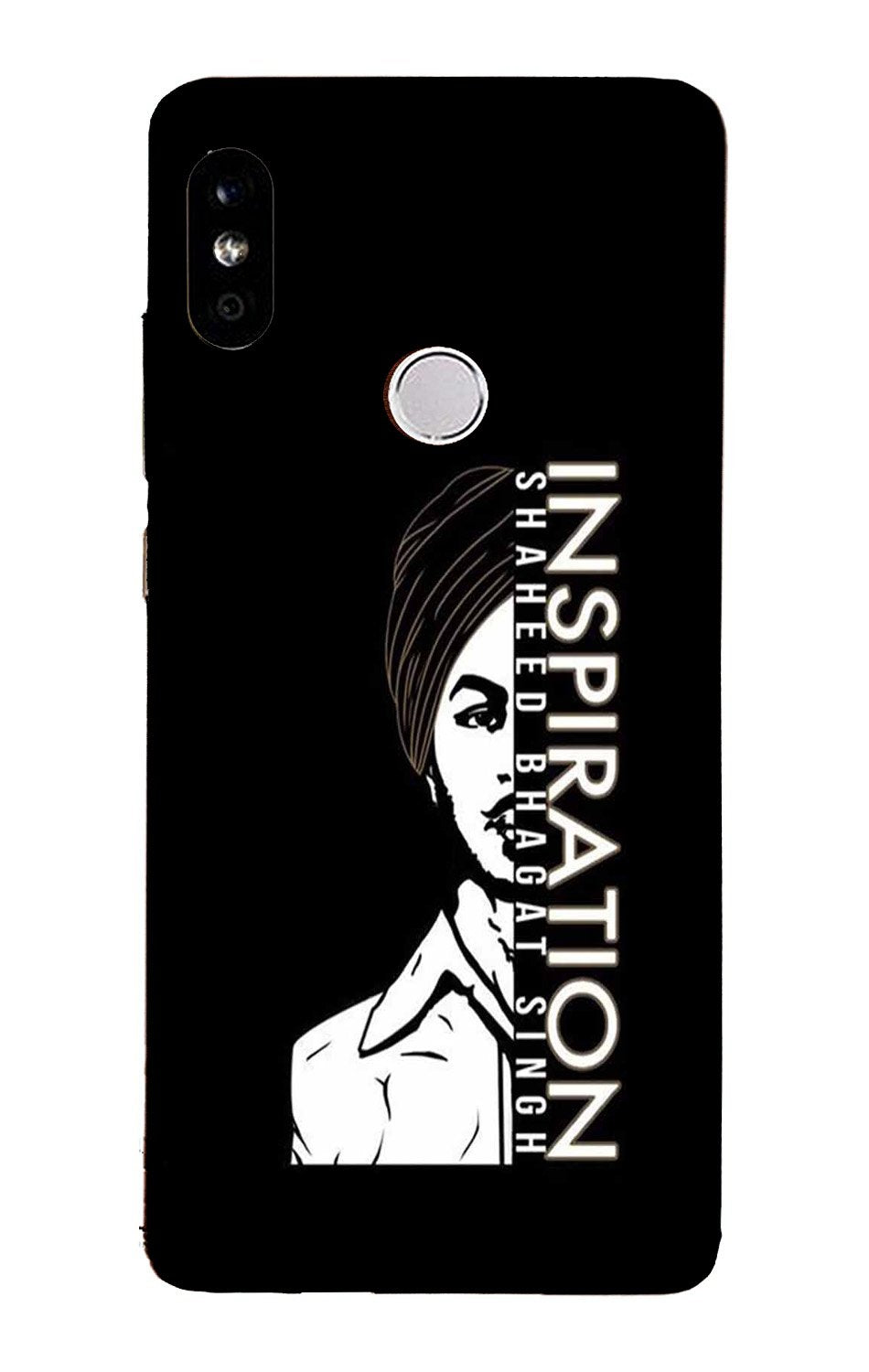 Bhagat Singh Mobile Back Case for Mi A2  (Design - 329)