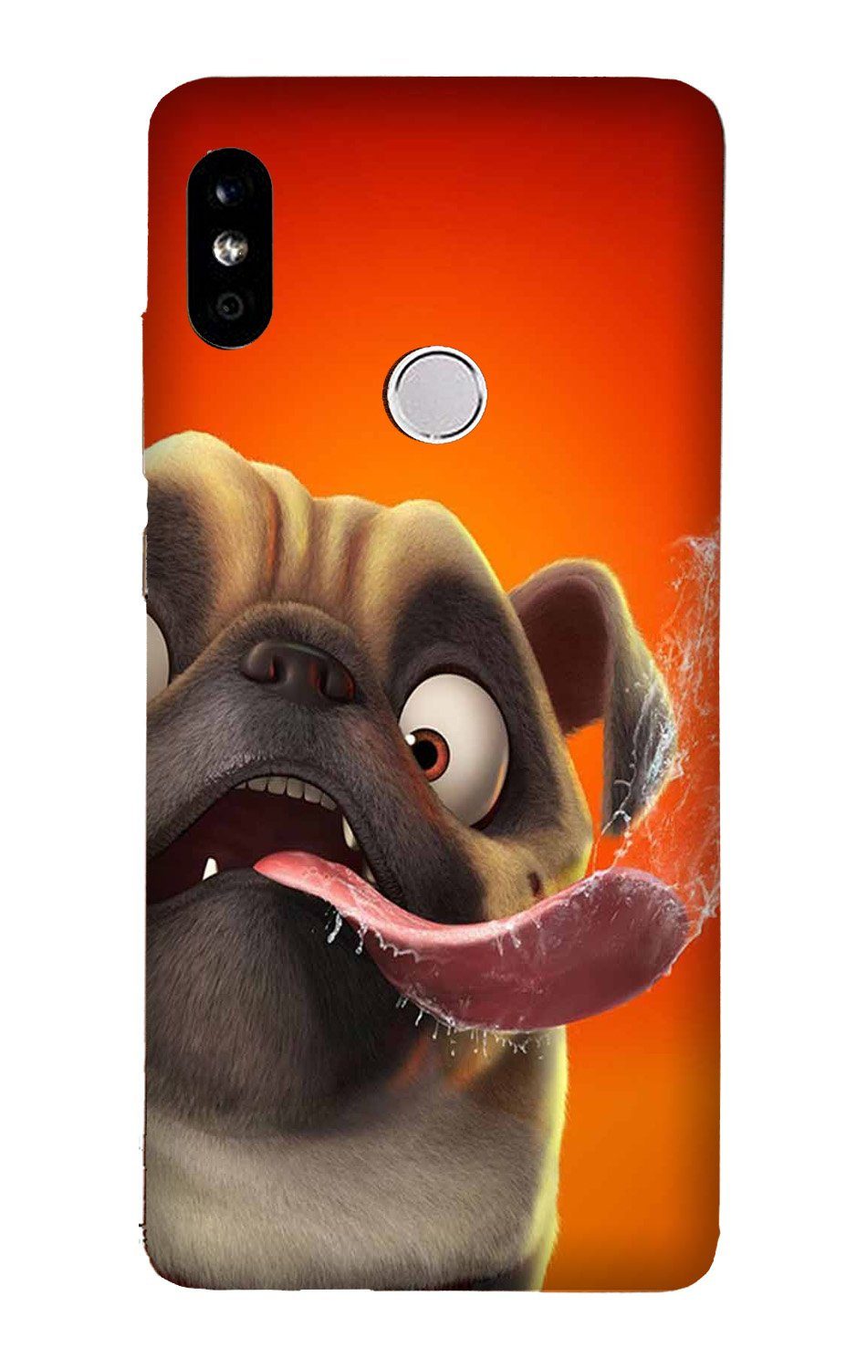 Dog Mobile Back Case for Mi A2  (Design - 343)
