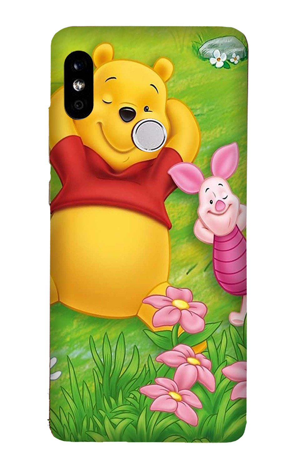 Winnie The Pooh Mobile Back Case for Mi A2  (Design - 348)