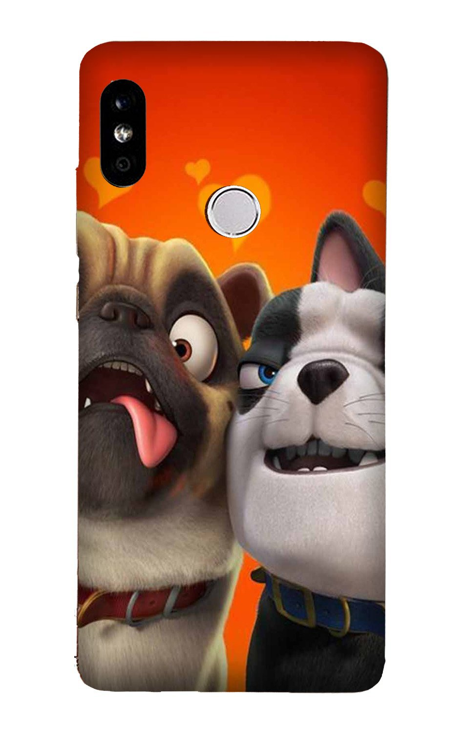 Dog Puppy Mobile Back Case for Mi A2  (Design - 350)