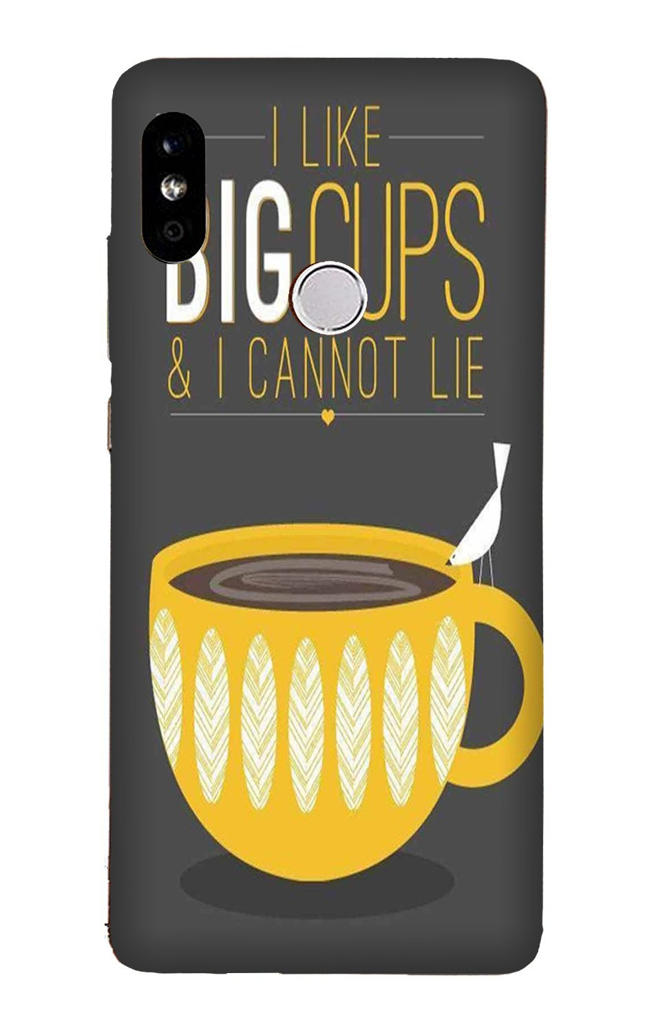 Big Cups Coffee Mobile Back Case for Mi A2  (Design - 352)