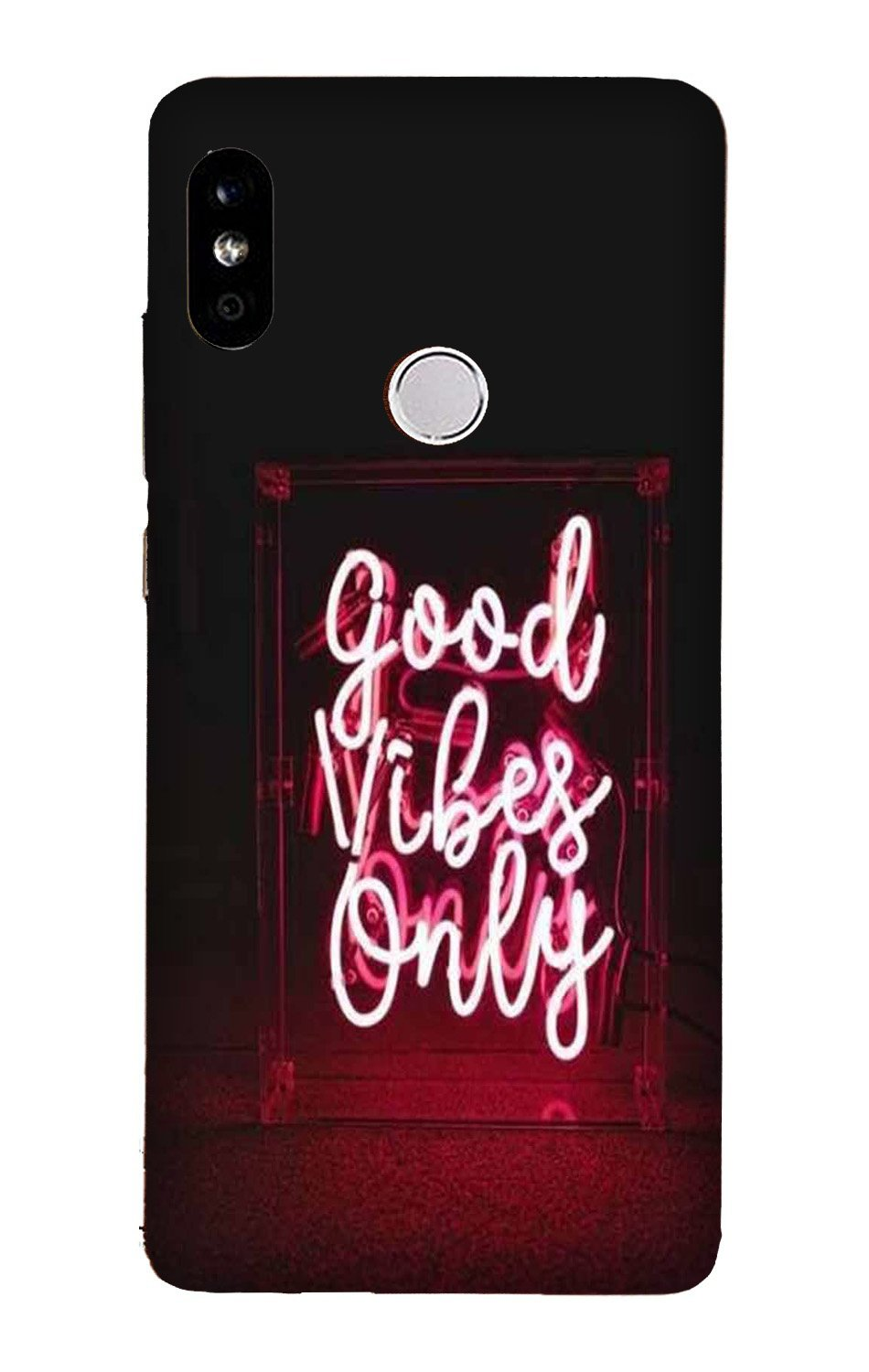Good Vibes Only Mobile Back Case for Mi A2  (Design - 354)