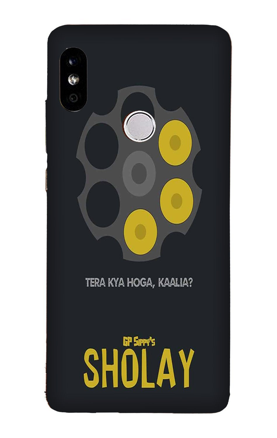 Sholay Mobile Back Case for Mi A2  (Design - 356)