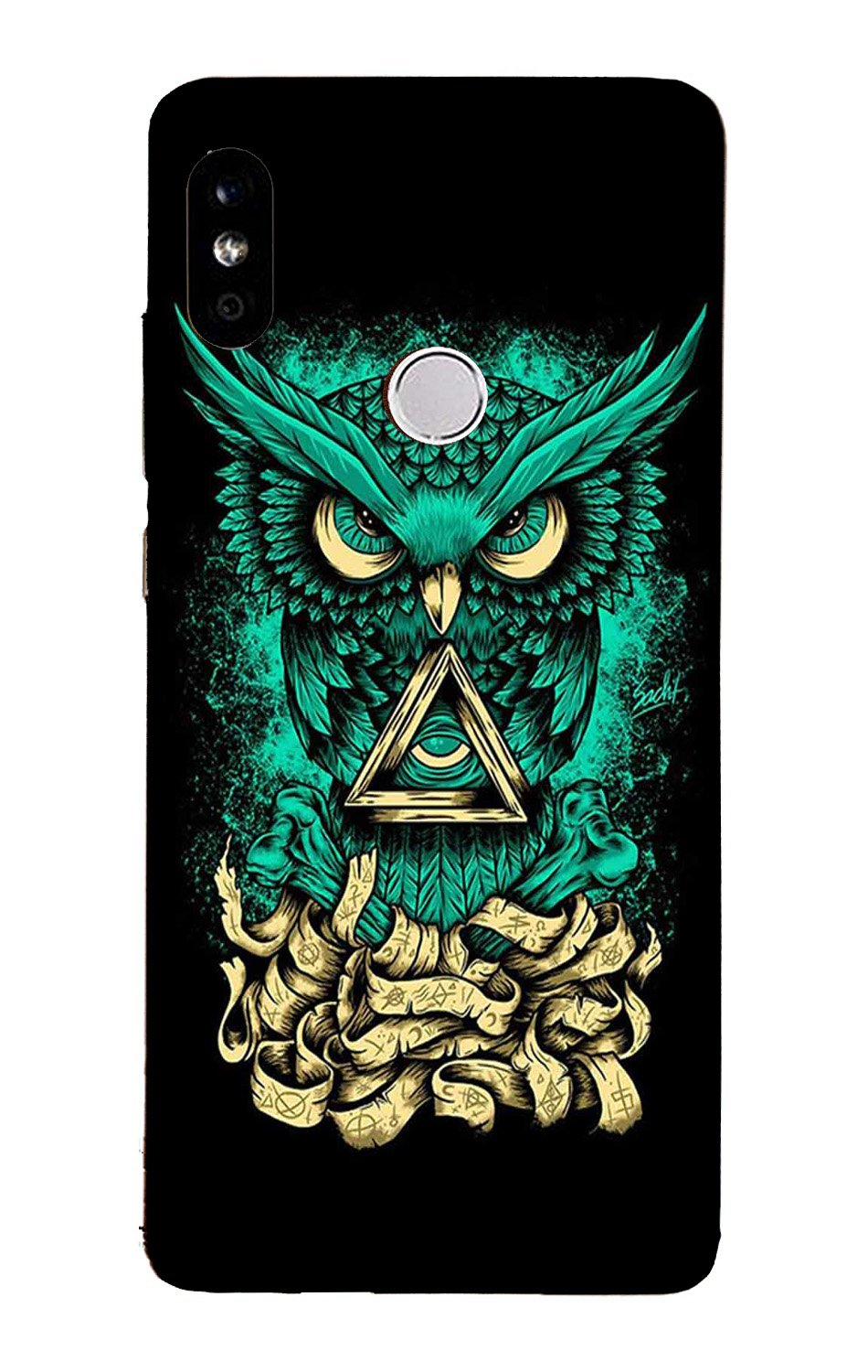 Owl Mobile Back Case for Mi A2  (Design - 358)