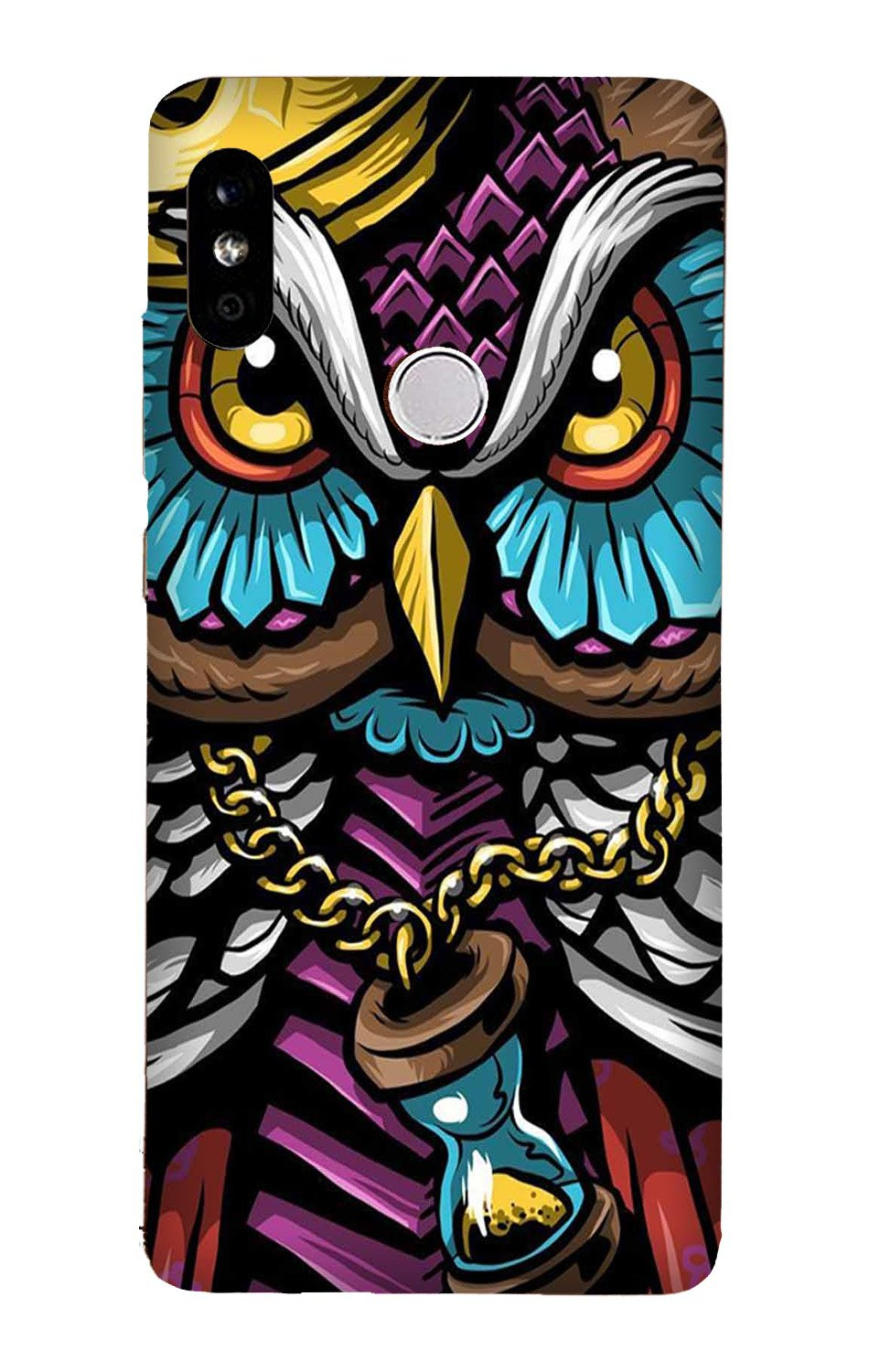 Owl Mobile Back Case for Mi A2  (Design - 359)