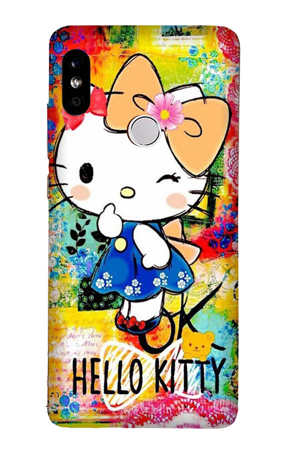 Hello Kitty Mobile Back Case for Mi A2  (Design - 362)